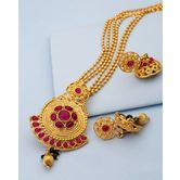 Gold Plated Alloy Pendant Set For Women