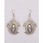 Exquisite Floral And Paisley Drop Earrings