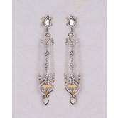 Artistic Dangle And Drop Brass Earrings