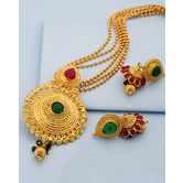 Artistic Pendant Set For Women With Gold Plating