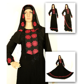 Nisa Embroidery Abaya With Double Ghera