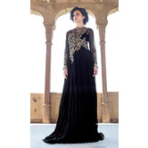 Craftsvilla Black Net Embroidered Anarkali Gown (un-stitched)