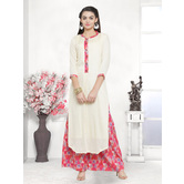 Craftsvilla Beige Color Viscose Printed Unstitched Straight Suit