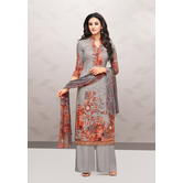 Craftsvilla Grey Cotton Aari Embroidered Unstitched Salwar Suit With Palazzo