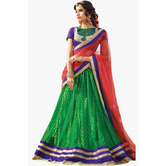 Craftsvilla Net Embroidered Lehenga Choli Dupatta Material