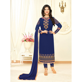 Craftsvilla Blue Georgette Embroidered Unstitched Salwar Suit