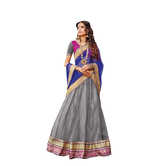 Craftsvilla Grey Color Net Lehenga Choli Dupatta Material