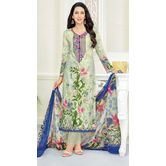 Craftsvilla Multicolor Cotton Embroidered Unstitched Straight Suit