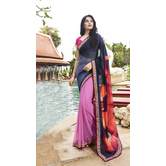Craftsvilla Multicolor Gorgette Printed Designer Saree