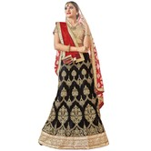 Craftsvilla Black Color Net Embroidered Wedding Lehenga
