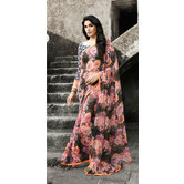 Craftsvilla Multicolor Printed Georgette Designer Saree