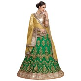 Craftsvilla Green Color Net Embroidered Wedding Lehenga