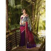 Craftsvilla Multicolor Georgette Hand Printed Saree
