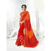 Craftsvilla Red Color Georgette Embellished Designer Saree