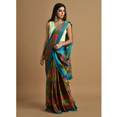 Craftsvilla Pink Color Satin Printed Traditional Saree With Unstitched Blouse Material