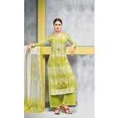 Craftsvilla Cream Color Cotton Blend Abstract Printed Unstitched Salwar Suit