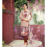 Craftsvilla Beige Color Cotton Blend Printed Unstitched Straight Suit