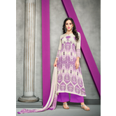 Craftsvilla Off White Color Cotton Blend Abstract Printed Unstitched Salwar Suit