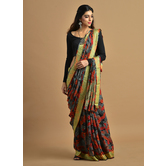 Craftsvilla Multicolor Georgette Printed Partywear Saree With Unstitched Blouse Material