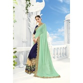 Craftsvilla Designer Navy Resham Embroidery Saree