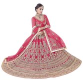 Craftsvilla Pink Color Embroidered Lehenga
