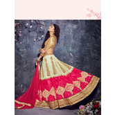 Craftsvilla Pink Color Net Embroidered Semi-stitched Traditional Lehenga