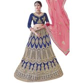 Craftsvilla Royal Blue Color Embroidered Lehenga