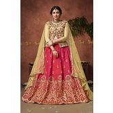Craftsvilla Pink Silk Embroidered Designer Lehenga Choli