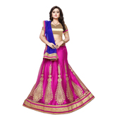 Craftsvilla Pink Color Net Fabric Lehenga