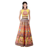 Craftsvilla Yellow Color Digital Printed Lehenga Choli