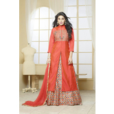 Bangalory Silk Indo Western Salwar Suit By Craftsvilla (orange)