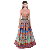 Craftsvilla Multicolor Digital Printed Lehenga Choli