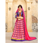 Craftsvilla Purple And Peach Ikat Patola Style Chaniya Choli With Dupatta