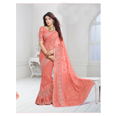 Chiffon Saree By Craftsvilla (peach)