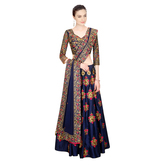 Lahenga Choli By Craftsvilla (navy_blue)
