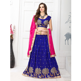 Lahenga Choli By Craftsvilla (blue & Pink)