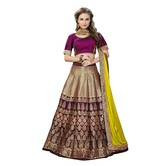 Craftsvilla Rani Pink & Golden Color Jacquard Lehenga Choli