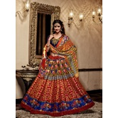 Craftsvilla Embroidered Banglori Silk Multicolor Lehenga Choli