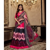 Craftsvilla Embroidered Banglori Silk Pink Lehenga Choli