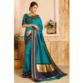 Craftsvilla Blue Color Bangalore Silk Woven Traditional Saree