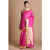 Craftsvilla Pink Color Silk Blend Buti Work Designer Saree