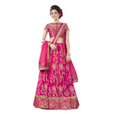 Craftsvilla Pink And Net Embroidered Lehenga Choli