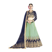 Craftsvilla Green And Silk Embroidered Lehenga Choli