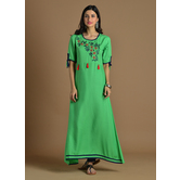 Green Rayon Embroide...