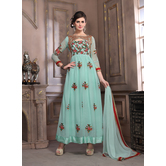 Craftsvilla Designer Light Green Georgette Salwar Suit