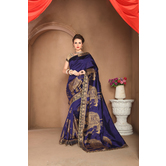 Craftsvilla Designer Blue Color Silk Saree