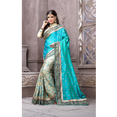Craftsvilla Designer Multicolor Silk Saree.