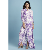 Purple Rayon Printed...
