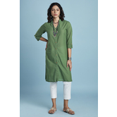 Green Plain Cotton S...