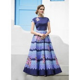 Craftsvilla Designer Art Silk Blue Color Embellished Lehenga
